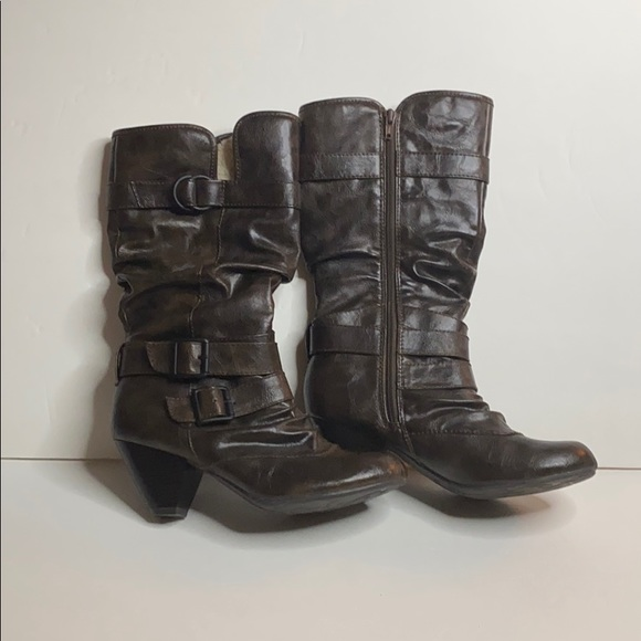 Call it Spring brown heeled boots